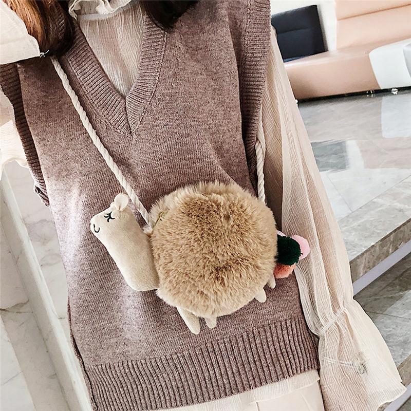 Plush Alpaca hair bag