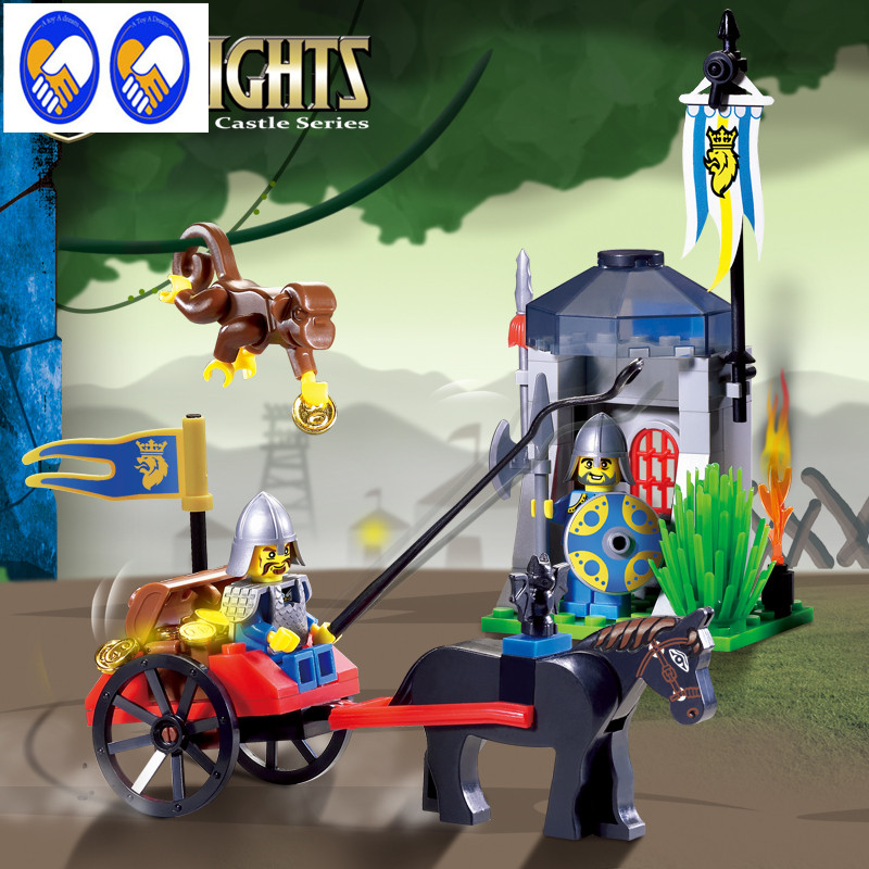 A Toy A Dream Enlighten Castle Educational Building Blocks Toys For Children Gifts Knight Monkey Carriage Compatible With Lepin enlighten 306 pirate ship scrap dock building blocks model toys compatible with lepin educational gift for children
