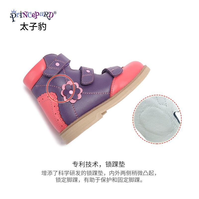 Princepard flambant neuf enfants chaussures d'été crochet boucle fermé orteil enfant en bas âge filles sandales orthopédique sport en cuir véritable bébé filles - 6