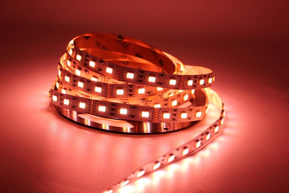 LED Strip 1m 60 LED RGBWW RGB warmweiss 12V IP20 Streifen RGBW RGB+WW Stripe