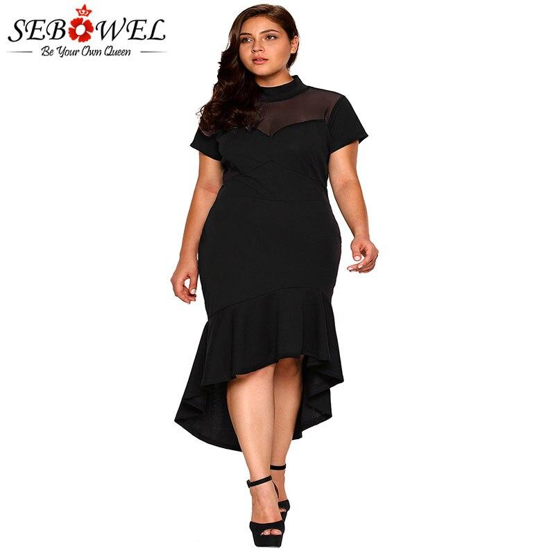 Dear Lover Autumn Dress Plus Size Women Clothing White/Black Floral ...
