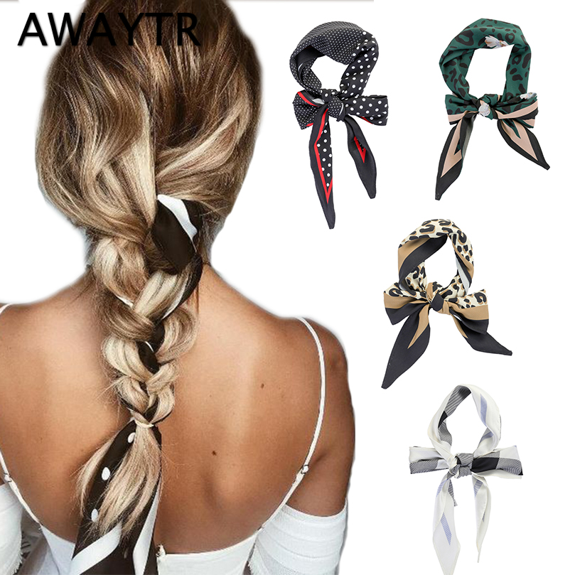 Apparel Accessories Popular Brand Awaytr Spring Fashion Hair Scarf For Women Headband Ponytail Holder Hair Tie Ribbons Hairband For Girls Hair Accessories
