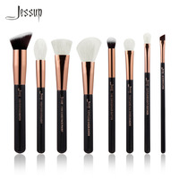 Jessup Brand Black Rose Gold Professional Makeup Brushes Set Make Up Brush Tools Kit Buffer Paint