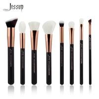 Jessup Brand Black Rose Gold Professional Makeup Brushes Set Make Up Brush Tools Kit Buffer Paint