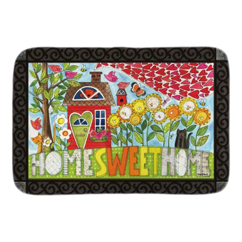 Floor mats decorative - Welcome Sweethome Decorative Doormat Indoor Outdoor Door Mats For Living Room Bedroom Soft Lightnes Short Plush