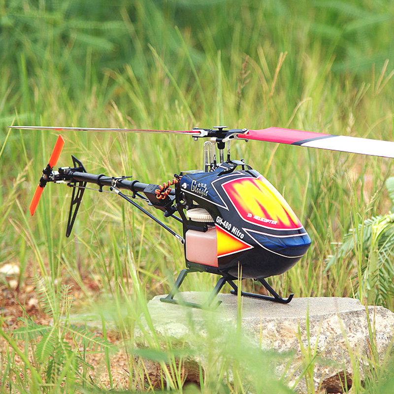 480N Hybrid Fuel RC Nitro Helicopter KIT Aircraft RC Nitro/480N Frame kit with Servos + Gbar Gyro Power-driven Helicopter Drone 5pcs lot 480n fuel rc nitro helicopter kit aircraft rc nitro electric helicopter 480n frame kit power driven helicopter drone