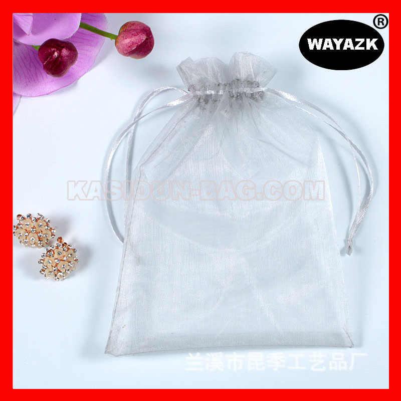 (1000 шт./лот) 4 размера в наличии, оптовая продажа, качественная прозрачная косметичка из органзы