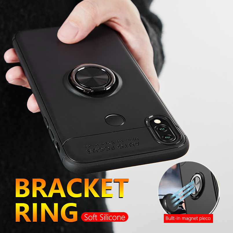 360 Degree Magnetic Car Phone Case For Huawei P20 lite Silicone Holder Stand Bracket Cover For Huawei P10 lite Mate 10 20 lite in Fitted Cases from Cellphones Telecommunications