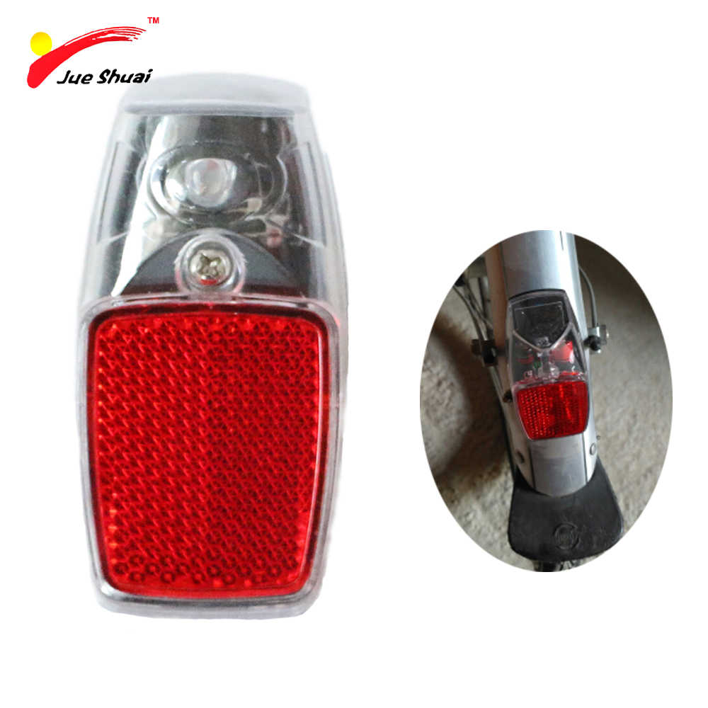JS Leds Battery Fender Bike Light Mount on the Mudguard Red Plastic Safe Warning Bicycle Taillight Bike Rear Light Flashlight