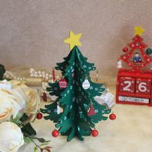 20CM Mini Wooden Merry Christmas Tree Table Decor Xmas Tree Ornaments Christmas Decoration Happy New Year Home Decor Gift
