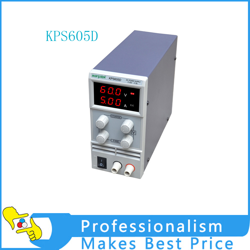 605D Adjustable High precision double LED display switch DC Power Supply protection function 0-60V/0-5A 110V-230V 0.1V/0.01A EU 30v 5a dc regulated power high precision adjustable supply switch power supply maintenance protection function kps305df