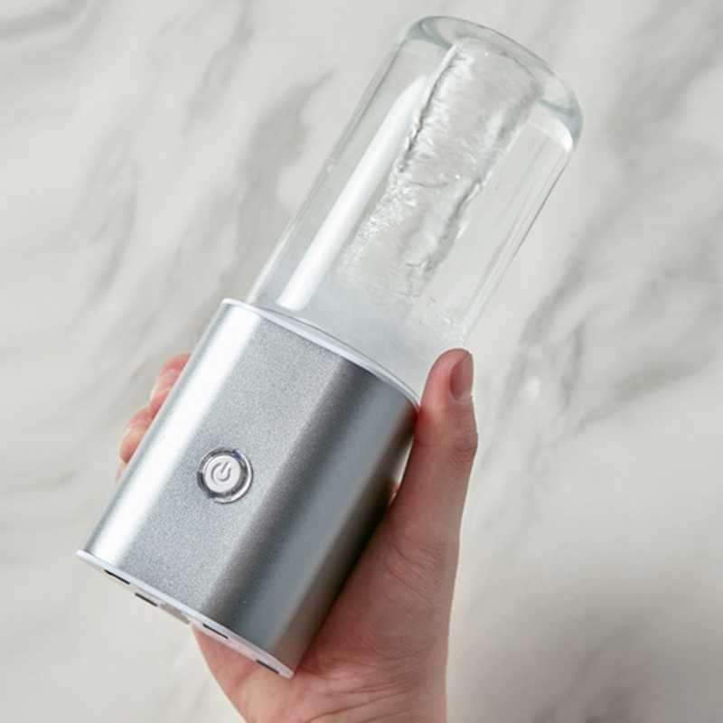 Liquidificador portátil do juicer, copo pessoal do suco do misturador do usb do curso com 2 lâminas atualizadas e motor mais poderoso