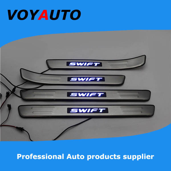 Stainless Steel SUZUKI SWIFT LED Scuff Plate,Led Door Sill Plate, Led - VOYAUTO CO.,LTD store
