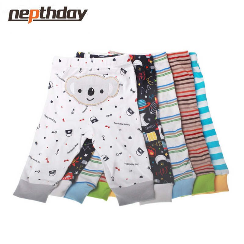 PP Pants 5pcs/lot 2016 Baby Fashion Model Babe Pants Cartoon Animal Printing Baby Trousers Kid Wear Baby Pants15-199(China)