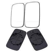 POSSBAY Car styling White Left/Right For BMW E46 4 Door 1998 2006 Mirror Heated Glasses Rear View Lens