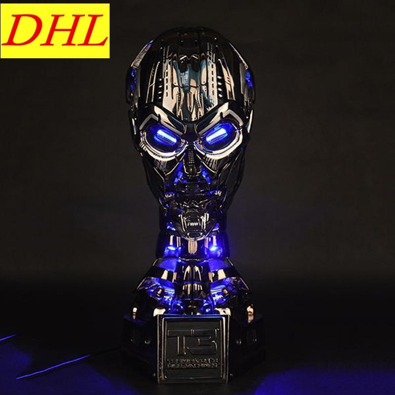 Terminator 1:1 GK T3 TX Skull Endoskeleton Lift-Size Bust With LED Resin Replica Action Figure Collectible Model Toy L1575 the terminator endoskeleton pvc action figure collectible model toy 7 18cm