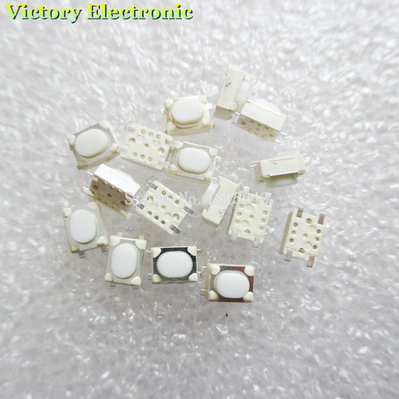 Spirited 100pcs/lot 3*4*2.5mm Smd Tact Switch 4 Pin Feet Flat Foot White Legs Flat Button Switch Car Key Switch S A Great Variety Of Goods Electronic Components & Supplies Integrated Circuits