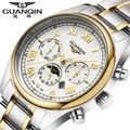 GUANQIN Original Military Watch Men's Luxury Brands New Fashion Quartz Watch male Calendar Sport Watch Men's business clock hour