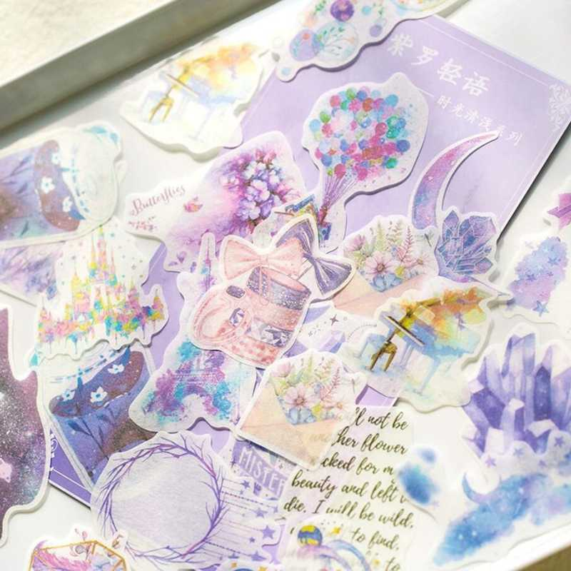 Journal Japanese Paper Pink Memories Vintage Flower Decorative Diary Cute Stickers Scrapbooking Label Sticker Stationery
