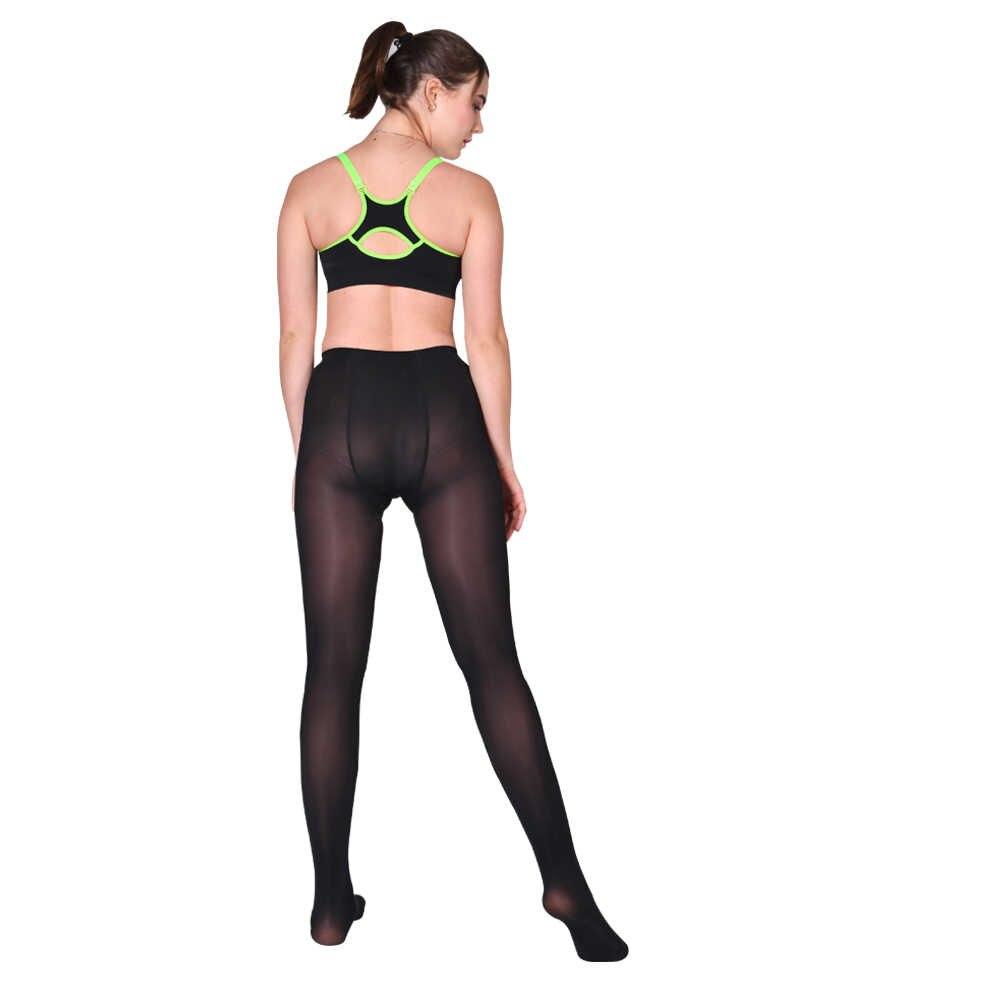 Nid mme sexy collants mémoire jambe moulante noir charnu marron foncé présage mode sexy sans trace conception LEOHEX