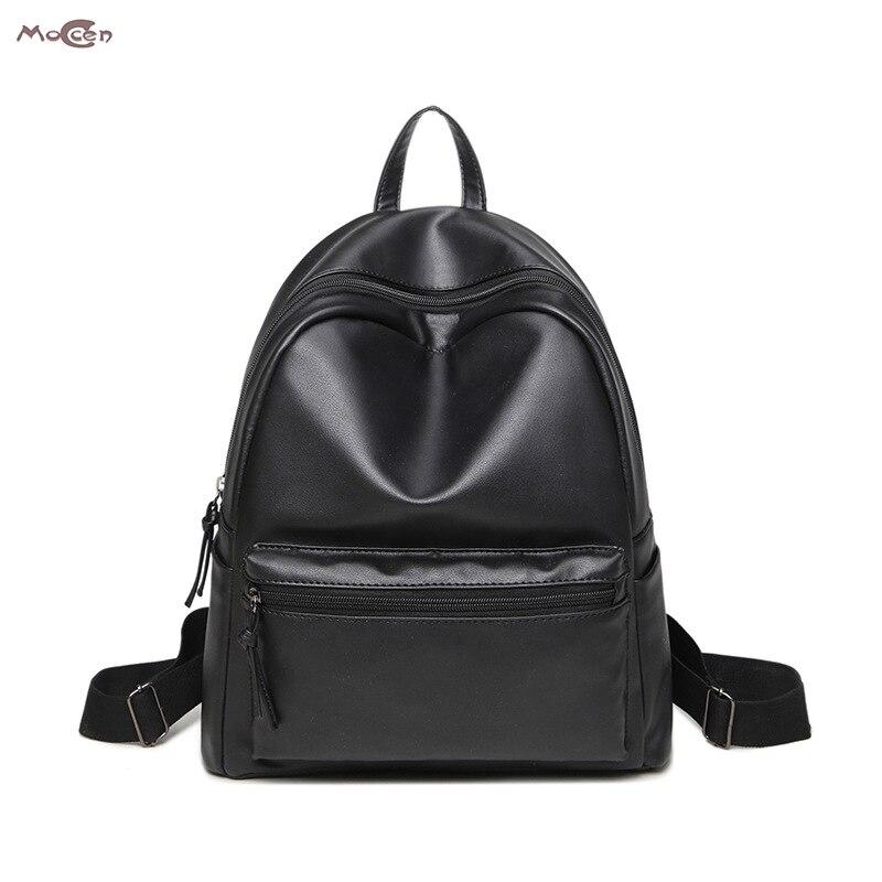 Moccen Shinny Backpacks School Bag Fashion Women Bags Cheap Small Bagpack Casual style