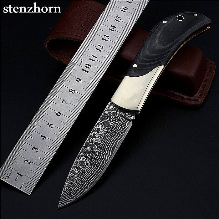 Stenzhorn Selling New Wood Navajas High Quality Outdoor Folding Knife Self-defense Damascus Gourd Survival Hardness Wild Fruit direct selling rw7 10 200a outdoor high voltage 10kv drop type fuse