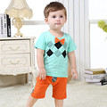 Summer Baby Boys Clothes Brand Cotton Children's Clothing Printed Short Sleeve + Pants Kids Casual Wear 6 Mths-3 Yrs