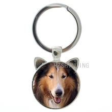 2016 hot selling dog keychain Long-Haired Rough Collie Mini Schnauzer Terrier Puppy Alaskan Malamute key chain ring holder CN754