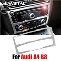 Car Styling Stainless Steel Center Control panel Switch Car Cover Frame Decoration For Audi A4 B8 Q5 8R 2009-2015 Car-Styling