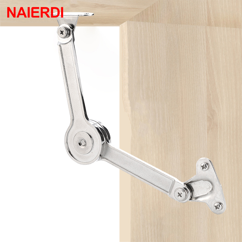 NAIERDI Cabinet Cupboard Adjustable Hinge Randomly Stop Door Furniture Lift Up Flap Stay Support Hydraulic Hinges Hardware dsha hot 10x soft close kitchen cabinet door hinge hydraulic slow shut clip on plate