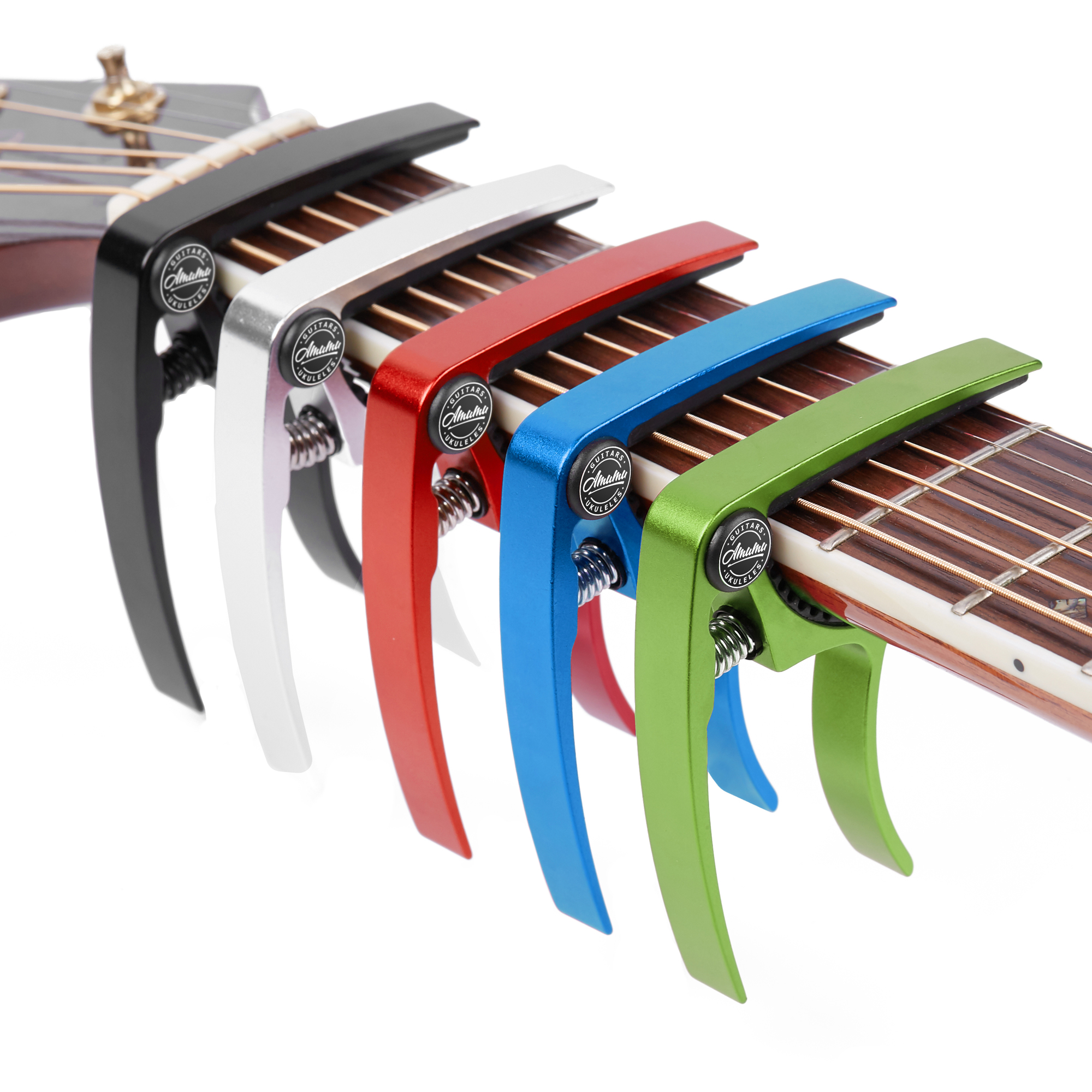 Amumu Guitare Capo pour Ukulélé Basse Banjo Mandoline Guitarra Capotraste Alliage D'aluminium FC10