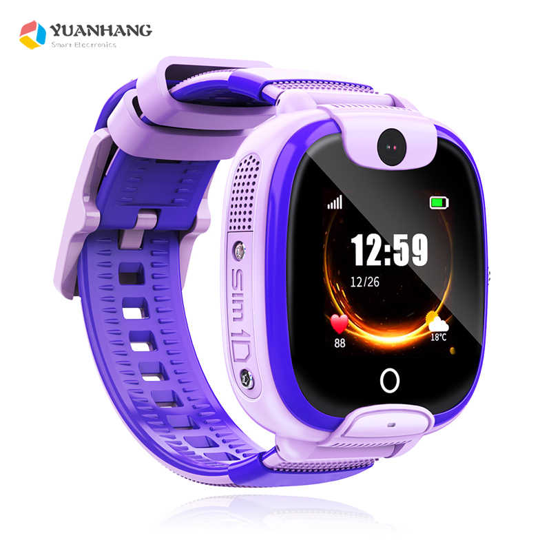 2019 New IP67 Waterproof Smart Electronic Accurate Tracker Location SOS Remote Monitor Camera Kid Student Phone Watch Wristwatch