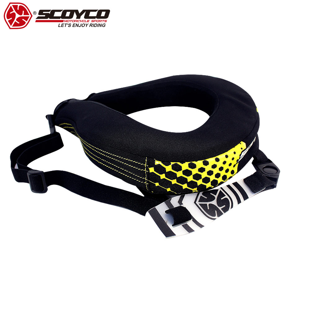 SCOYCO 2019 Motorcycle Off road Neck Guard Riding Shatter resistant Protection Karting Locomotive Equipment Neck Protector