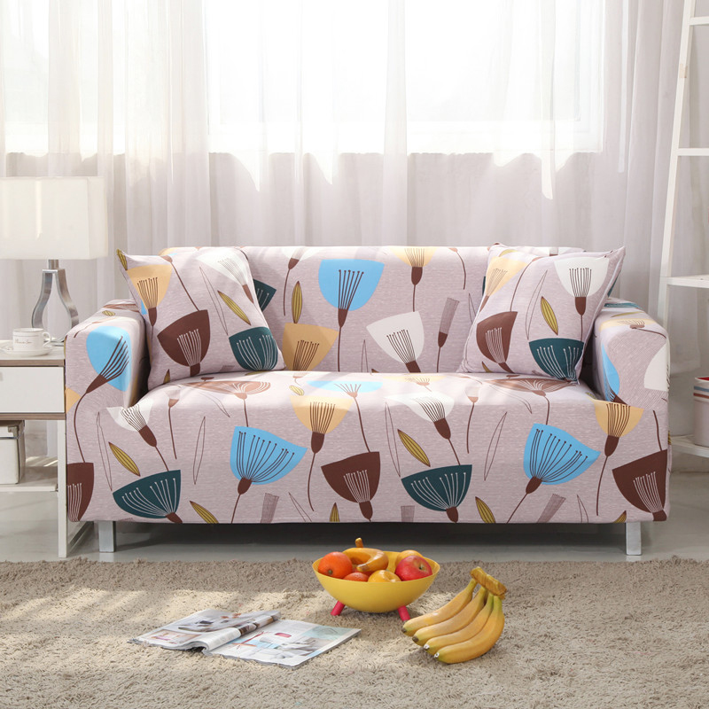 Sectional Sofa Cover Soft Comfortable Stretch Fabric Universal Sofa Cover/Towel Fashion Printed Armchair Protector Cover