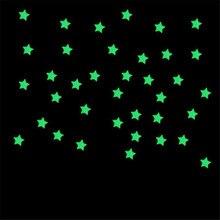 100 UNID Niños Dormitorio Fluorescentes Brillan En La Oscuridad Estrellas Pegatinas de Pared de BRICOLAJE Home Decor poster vinilos paredes
