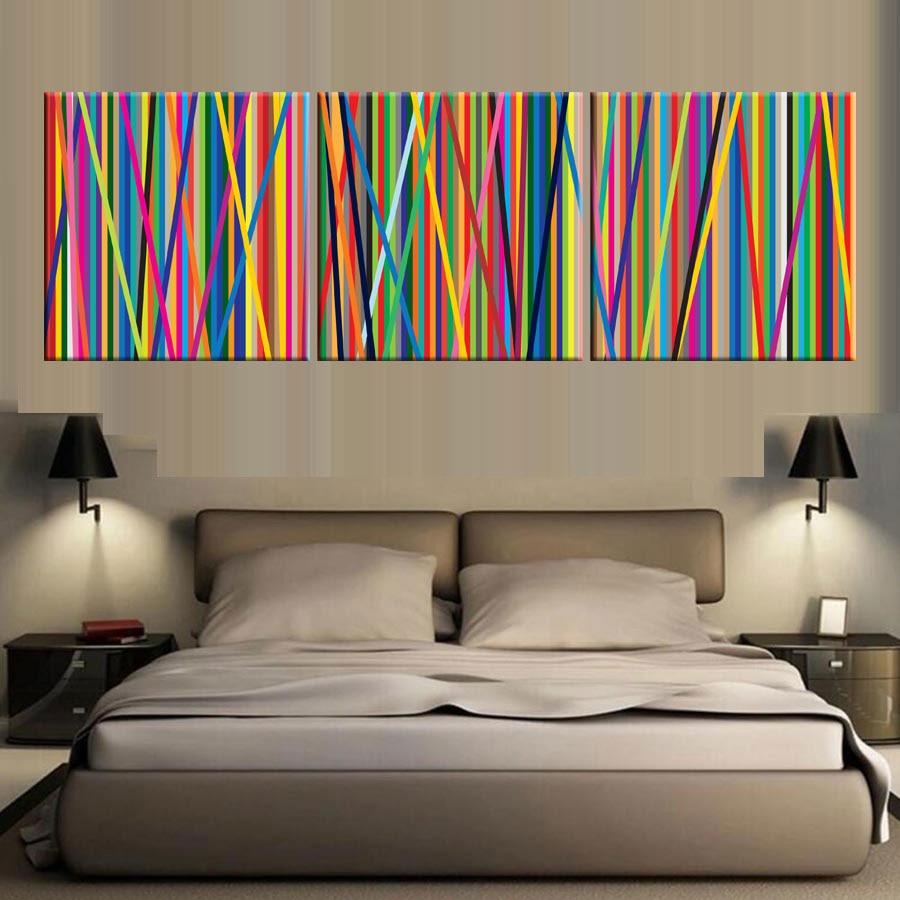 Плакат ручной работы Модульная картина 3 шт. холст стены искусства фотографии красочные картины для гостиной домашнего декора