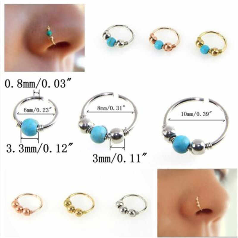 1pcs Fake Nose Ring Labret Lip Ring C Clip lip Piercing Helix Piercing Tragus Faux Nose Earrings Hoop Neus Pircing