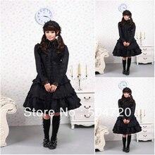 AUF VERKAUF! V-1122 Black Cotton Gothic Lolita Kleid/viktorianischen kleid Cocktailkleid/halloween-kostüm US6-26 XS-6XL