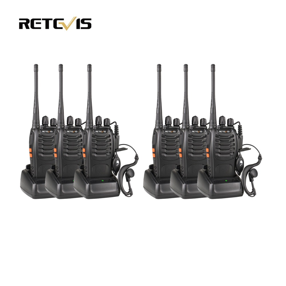 6pcs Walkie Talkie Retevis H777 UHF 400 470MHz Frequency Portable Ham Radio Hf Transceiver Radio Communicator