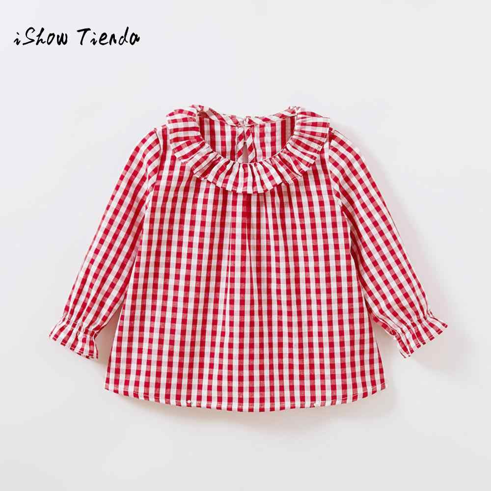 2019 New Spring Clothes Toddler Kids Girls Long Sleeve Cotton Shirt Checks Plaid Tops Blouse Clothes bluzki dla dziewczynki