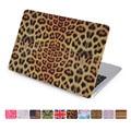 Para macbook air 11 13 caso 11.6 13.3 pulgadas A1465 A1466 duro de la cubierta del patrón del leopardo para apple mac portátil pc proteger completa