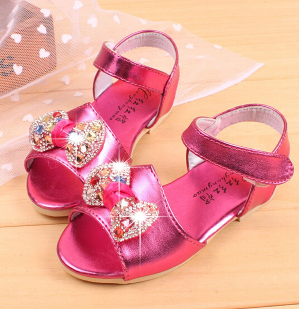 2016 new Summer style Kids Crystal sandals for kids girls