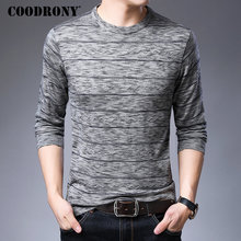 COODRONY Brand Sweater Men Knitwear Pull Homme Fashion Striped Pullover Autumn Winter Soft Warm Cotton Woolen Sweaters 91041