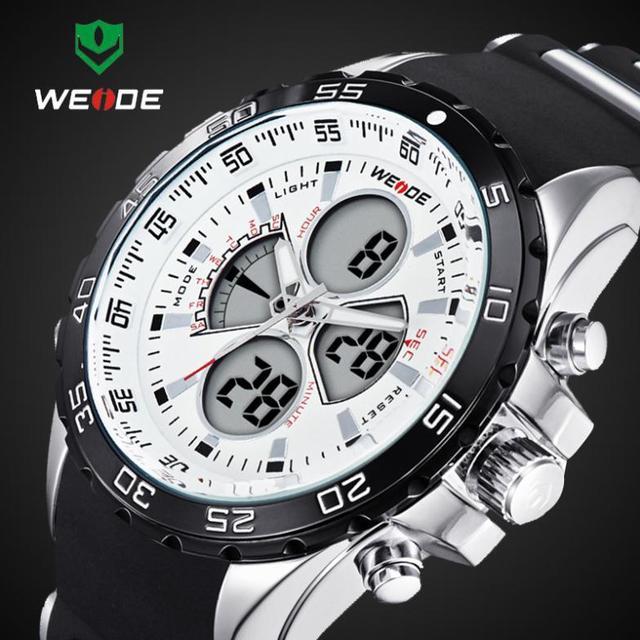 2016 Nuevo WEIDE de Moda Led Digital Relojes Hombres Militar de Cuarzo Reloj Deportivo Masculino Impermeable relojes de Pulsera Relogio masculino