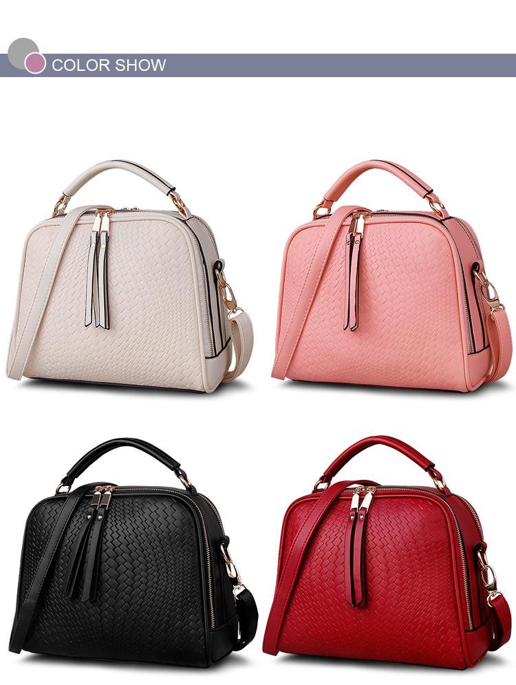 2015 Autumn New Arrival Women Weave Tassel Women PU Leather Handbags Women Shoulder Bag Ladies Casual Messenger Bags BH1150 (7)