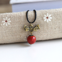 Spring jewelry Charm strand Handmade Red Pendant Necklace for women 2016 Fine Jewelry