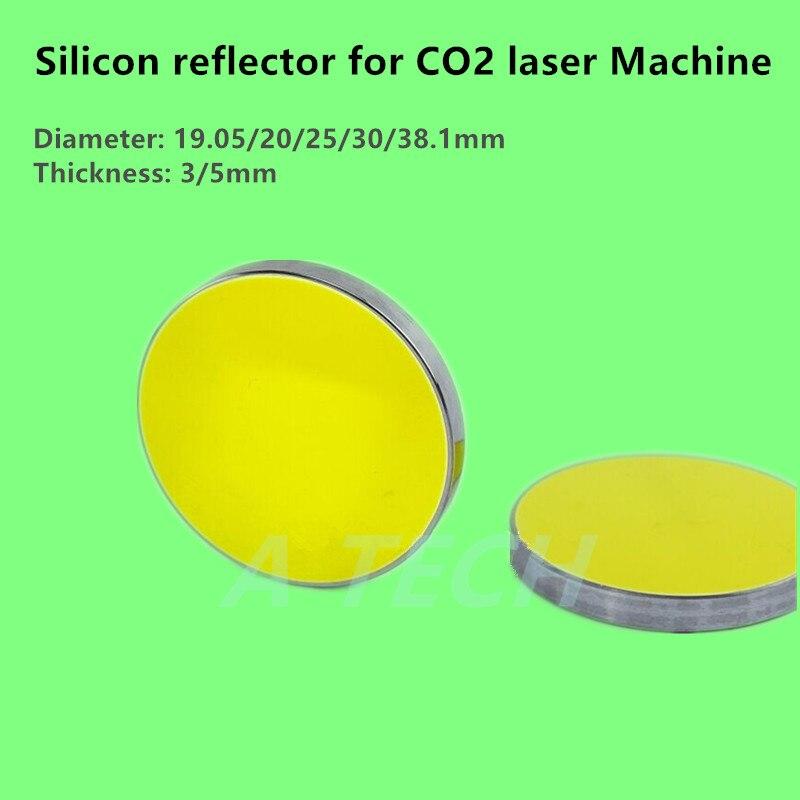 19,05/20/25/30/38.1 мм кремниевый si CO2 лазерный отражатель, лазерное зеркало, отражатель для CO2 лазерной машины