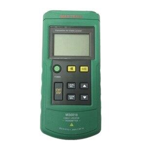 Image 2 - جهاز اختبار كابل الأسلاك الاحترافي المحمول Mastech MS6818 جهاز فحص محدد موقع الأنابيب المعدنية جهاز تعقب الخط Voltage12 ~ 400 فولت