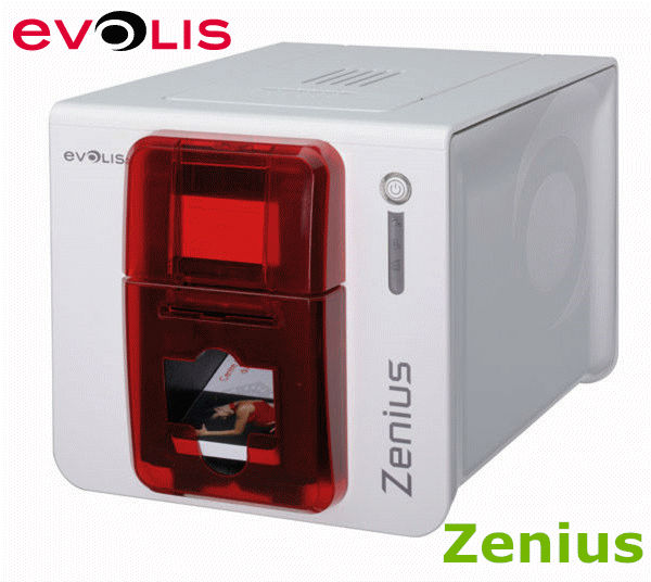 цена EKARWELT Evolis zenius single-sided id card printer with YMCKO ribbon R5F008S14 1pcs
