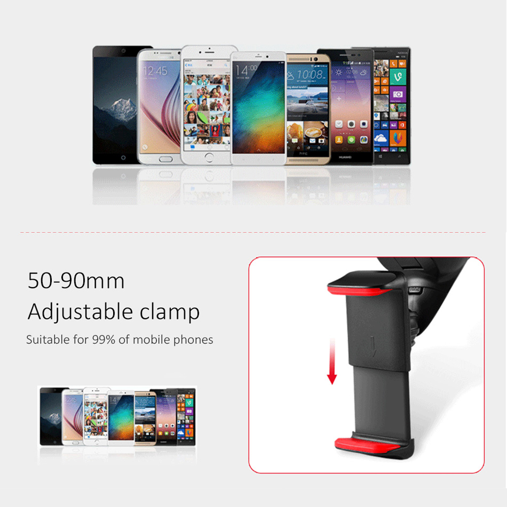 Image 5 - ESVNE Universal Car Phone holder for iPhone smartphone Mobile phone car holder stand windshield mount Support cellular phone-in Phone Holders & Stands from Cellphones & Telecommunications